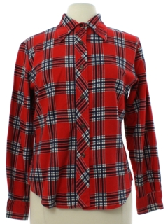 1970's Womens Lumberjack Plaid Flannel Shirt