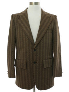 1970's Mens Mod Wide Lapel Disco Blazer Sport Coat Jacket