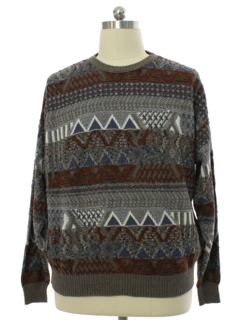 1980's Mens London Fog Cosby Style Sweater
