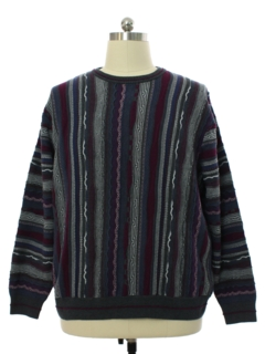 1990's Mens Coogi Inspired Cosby Style Norm Thompson Sweater