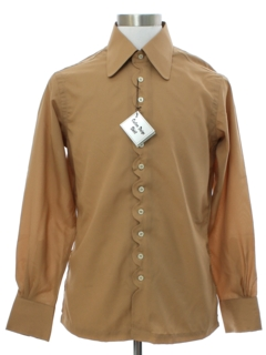 1960's Mens Mod Peacock Revolution Sport Shirt