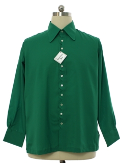 1960's Mens Mod Peacock Revolution Shirt