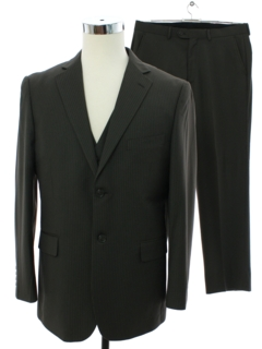 1990's Mens Wilke Rodriguez Three Piece Suit