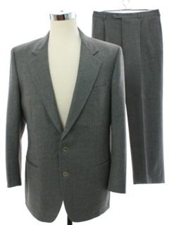 1980's Mens Wool Pinstripe Suit