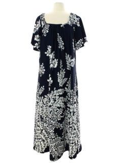 1980's Womens Hawaiian A-Line Muu Muu Dress