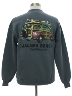 1990's Mens Jalama Beach Surfer Woodie Sweatshirt