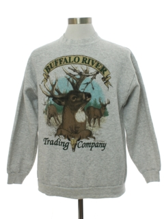 1990's Mens Buffalo River Hunting Sweatshirt