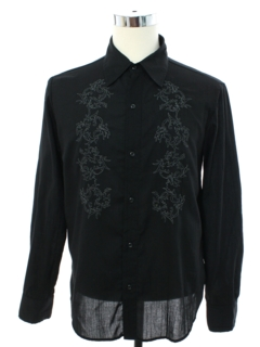 1990's Mens Embroidered Hippie Shirt