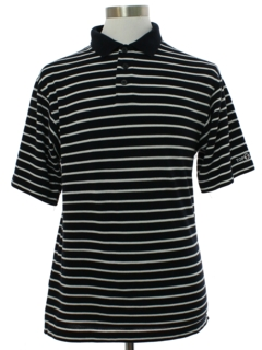 1980's Mens Striped Polo Style Golf Shirt