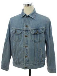 1980's Mens Lee Riders Denim Western Style Jacket