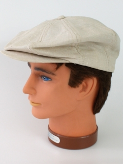 1950's Mens Accessories - Newsboy Cap Linen Hat