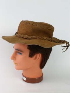 1960's Mens Accessories - Suede Leather Hippie Hat