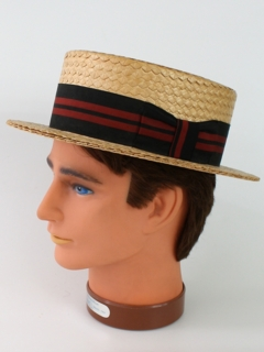 1950's Mens Accessories - Straw Hat