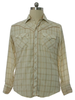 1980's Mens Kenny Rogers Rodeo Style Western Shirt