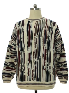 1990's Mens Cotton Traders Coogi Inspired Cosby Style Sweater