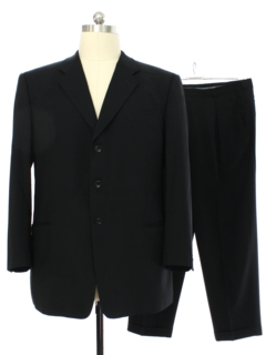 1990's Mens Armani Designer Black Suit