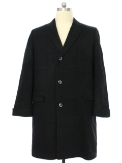1980's Mens Wool 3/4 Overcoat or Long Car Coat Jacket