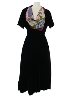 1950's Womens Elizabeth Arden Desginer Cocktail Dress