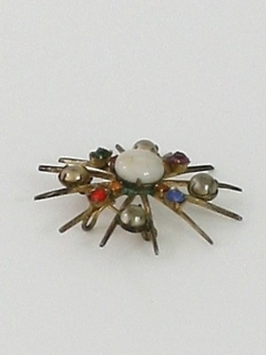 1960's Womens Accessories - Atomic Brooch Pin