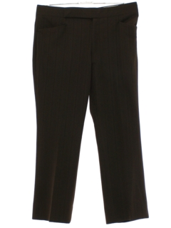 1970's Mens Dark Brown Flared Leisure Pants