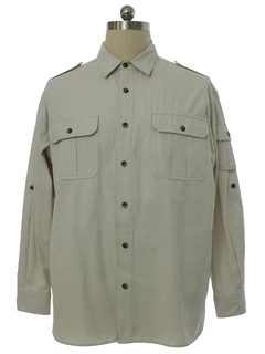 1990's Mens Travel Smith Safari Style Shirt Jacket