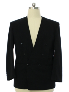 1980's Mens Totally 80s Double Breasted Blazer Sportcoat Jacket