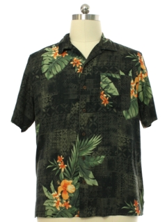 1990's Mens Caribbean Joe Silk Rayon Blend Hawaiian Shirt