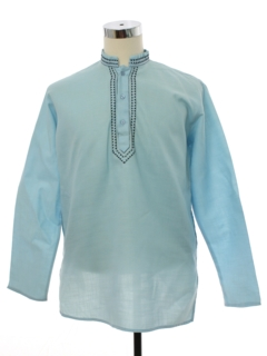 1970's Mens Hippie Style Tunic Shirt