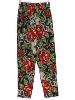 1980's Womens Totally 80s Print Pants