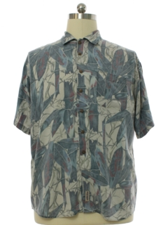 1990's Mens Graphic Print Rayon Sport  Shirt
