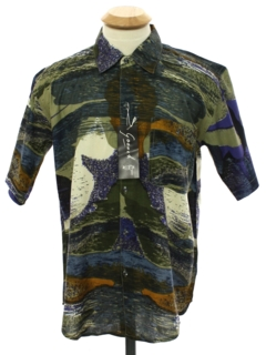 1990's Mens Goouch Wicked 90s Graphic Print Shirt