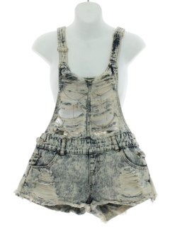 1990's Womens Grunge Jeans Denim Cut-off Romper