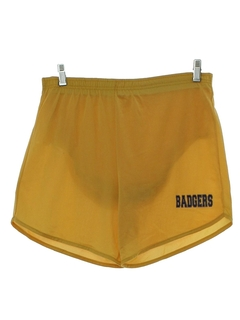 1980's Mens Badgers Athletic Shorts