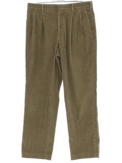 1980's Mens Lands End Pleated Corduroy Pants