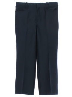 1970's Mens Midnight Blue Western Style Leisure Pants