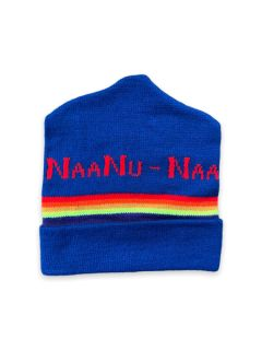 1980's Unisex Accessories - Naanu Naanu Possibly Mork and Mindy Intarsia Knit Ski Beanie Hat