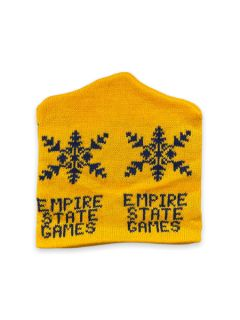1980's Unisex Accessories - Empire State Games Intarsia Knit Ski Beanie Hat