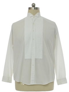 1990's Mens Pleated Tuxedo Shirt
