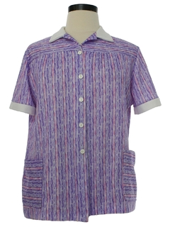 1970's Womens Knit Diner Shirt