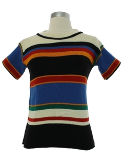 1970's Womens Mod Knit Sweater Shirt