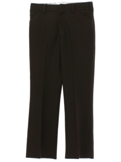 1970's Mens Brown Leisure Style Disco Pants