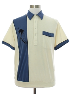 1980's Mens Totally 80s Golf Style Polo Shirt
