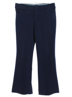 1970's Mens Midnight Blue Flared Leisure Pants