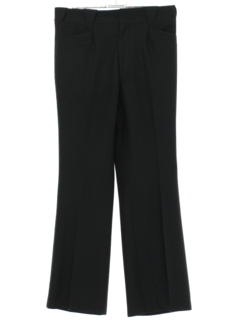 1970's Mens Black Flared Western Style Leisure Pants