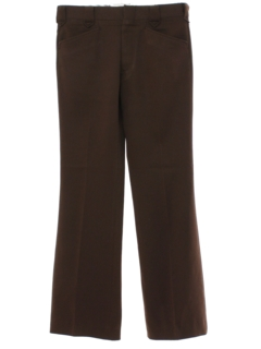 1970's Mens Brown Flared Western Style Leisure Pants