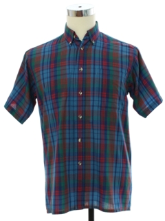 1980's Mens Totally 80s Preppy Spot Shirt