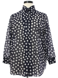 1980's Womens Polka Dot Print Shirt