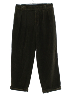 1990's Mens Wide Wale Pleated Corduroy Pants