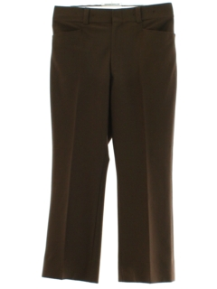 1970's Mens Brown Flared Leisure Pants