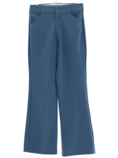 1970's Mens Baby Blue Flared Disco Style Leisure Pants